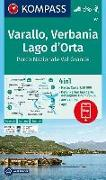 Cover-Bild zu KOMPASS-Karten GmbH (Hrsg.): KOMPASS Wanderkarte Varallo, Verbania, Lago d'Orta, Parco Nazionale Val Grande. 1:50'000