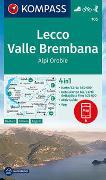Cover-Bild zu KOMPASS-Karten GmbH (Hrsg.): KOMPASS Wanderkarte Lecco, Valle Brembana, Alpi Orobie. 1:50'000