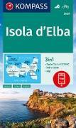 Cover-Bild zu KOMPASS-Karten GmbH (Hrsg.): KOMPASS Wanderkarte Isola d' Elba. 1:25'000