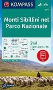 Cover-Bild zu KOMPASS-Karten GmbH (Hrsg.): KOMPASS Wanderkarte Monti Sibillini nel Parco Nazionale. 1:50'000