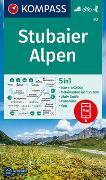 Cover-Bild zu KOMPASS-Karten GmbH (Hrsg.): KOMPASS Wanderkarte Stubaier Alpen. 1:50'000