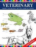 Cover-Bild zu Crown, Patrick: Veterinary Anatomy Coloring Book: Kids Relax Design for Students: Younger Kids for Learn Anatomy Dog, Cat, Hourse, Turtle, Frog, Bird, Fish