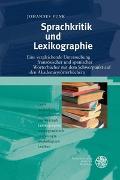 Cover-Bild zu Funk, Johannes: Sprachkritik und Lexikographie