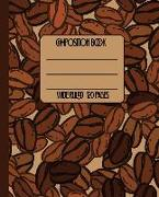 Cover-Bild zu Press, New Nomads: Wide Ruled Composition Book: Cool Coffee Lovers Themed Composition Notebook for School, Work, or Home! Keep Your Notes Organized and a Smile on You