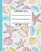 Cover-Bild zu Press, New Nomads: Wide Ruled Composition Book: Pretty Sea Shells Themed Composition Notebook for School, Work, or Home! Keep Your Notes Neat and Organized While You