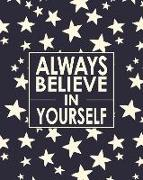 Cover-Bild zu Daniel, David: Always Believe in Yourself - Cornell Notes Notebook: Inspirational Sparkling Stars Notebook Is Perfect for High School, Homeschool or College Students