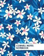 Cover-Bild zu Daniel, David: Cornell Notes Notebook: Pretty Blue Tropical Flowers Notebook Supports a Proven Way to Improve Study and Information Retention