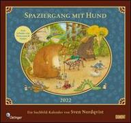 Cover-Bild zu Nordqvist, Sven (Illustr.): Sven Nordqvist: Spaziergang mit Hund 2022 - DUMONT Kinder-Kalender - Mit 12 Such- und Wimmelbildern - Format 38,0 x 35,5 cm