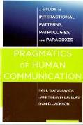 Cover-Bild zu Watzlawick, Paul: Pragmatics of Human Communication