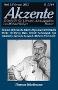 Cover-Bild zu Krüger, Michael (Hrsg.): Akzente 1 / 2012