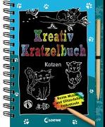 Cover-Bild zu Loewe Kratzel-Welt (Hrsg.): Kreativ-Kratzelbuch: Katzen
