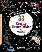 Cover-Bild zu Loewe Kratzel-Welt (Hrsg.): Die besten 33 Kreativ-Kratzelbilder für Mädchen