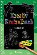 Cover-Bild zu Loewe Kratzel-Welt (Hrsg.): Kreativ-Kratzelbuch: Reiterhof