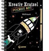 Cover-Bild zu Loewe Kratzel-Welt (Hrsg.): Kreativ-Kratzel Pocket Art: Weltraum