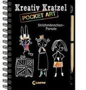 Cover-Bild zu Loewe Kratzel-Welt (Hrsg.): Kreativ-Kratzel Pocket Art: Strichmännchen-Parade