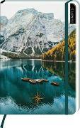 Cover-Bild zu myNOTES Notizbuch A5: Kompass und Berge