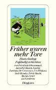 Cover-Bild zu Stephan, Winfried (Hrsg.): Früher waren mehr Tore