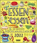 Cover-Bild zu Menschik, Kat (Illustr.): Essen essen - Kat Menschiks Küchenkalender 2022 - Im Hochformat 34,5 x 40 cm