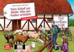 Cover-Bild zu Hauenschild, Lydia: Vom Schaf zur Wolle. Wie ein Faden entsteht. Kamishibai Bildkartenset