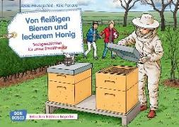 Cover-Bild zu Hauenschild, Lydia: Von fleißigen Bienen und leckerem Honig. Kamishibai Bildkartenset