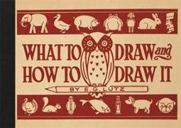 Cover-Bild zu Lutz, E G: What to Draw and How to Draw it