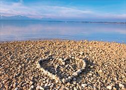 Cover-Bild zu Eschbacher Textkarte Herz am Strand