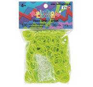 Cover-Bild zu Rainbow Loom Gummibänder Neon-Grün / Neon-Green