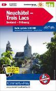 Cover-Bild zu Hallwag Kümmerly+Frey AG (Hrsg.): Neuchâtel Trois Lacs, Nr. 08 Velokarte 1:60 000 matt laminiert. 1:60'000