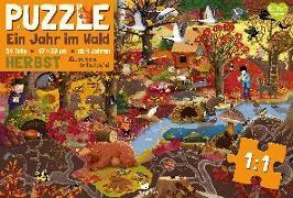 Cover-Bild zu Dziubak, Emilia (Illustr.): Ein Jahr im Wald - Herbst - Puzzle