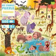Cover-Bild zu Nicholls, Paul (Illustr.): My Family Puzzle - Savannah