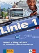 Cover-Bild zu Linie 1 A1.1. Kurs- und Übungsbuch mit DVD-ROM. Schweiz von Kaufmann, Susan