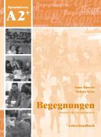 Cover-Bild zu Begegnungen A2+. Lehrerhandbuch von Buscha, Anne