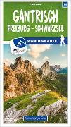 Cover-Bild zu Hallwag Kümmerly+Frey AG (Hrsg.): Gantrisch / Freiburg -Schwarzsee 28 Wanderkarte 1:40 000 matt laminiert. 1:40'000