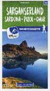 Cover-Bild zu Hallwag Kümmerly+Frey AG (Hrsg.): Sarganserland Sardona - Pizol - Chur 22 Wanderkarte 1:40 000 matt laminiert. 1:40'000