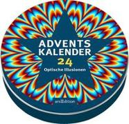 Cover-Bild zu Schumacher, Timo (Illustr.): Adventskalender in der Dose - 24 optische Illusionen