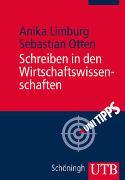 Cover-Bild zu Limburg, Anika: Schreiben in den Wirtschaftswissenschaften