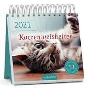 Cover-Bild zu Postkartenkalender Katzenweisheiten 2021