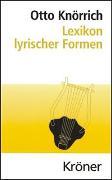 Cover-Bild zu Knörrich, Otto: Lexikon lyrischer Formen