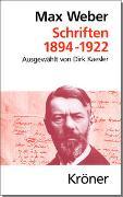 Cover-Bild zu Weber, Max: Schriften 1894-1922