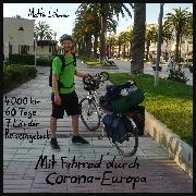 Cover-Bild zu Mit Fahrrad durch Corona-Europa (Audio Download) von Lühmann, Mattis