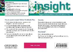 Cover-Bild zu insight: Upper-Intermediate: Online Workbook Plus - Access Code