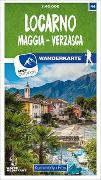 Cover-Bild zu Hallwag Kümmerly+Frey AG (Hrsg.): Locarno / Maggia - Verzasca 44 Wanderkarte 1:40 000 matt laminiert. 1:40'000