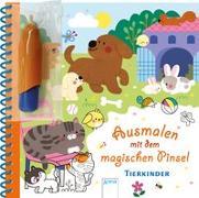 Cover-Bild zu Ledesma, Sophie (Illustr.): Ausmalen mit dem magischen Pinsel. Tierkinder