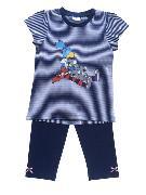 Cover-Bild zu Globine Pyjama Capri marine/weiss gestreift 122/128