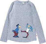 Cover-Bild zu Globine T-Shirt langarm Globi u. Globine hellgrau 110/116