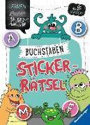 Cover-Bild zu Buchstaben-Sticker-Rätsel von Jebautzke, Kirstin