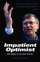 Cover-Bild zu Gates, Bill: Impatient Optimist