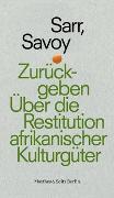 Cover-Bild zu Sarr, Felwine: Zurückgeben