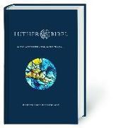 Cover-Bild zu Luther, Martin (Übers.): Lutherbibel mit Glasfenstern von Marc Chagall