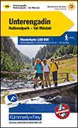 Cover-Bild zu Hallwag Kümmerly+Frey AG (Hrsg.): Unterengadin Wanderkarte Nr. 14. 1:60'000
